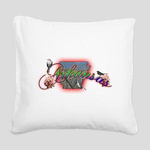 Arkansas Square Canvas Pillow
