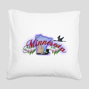 Minnesota Square Canvas Pillow
