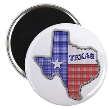 Plaid Texas Magnet
