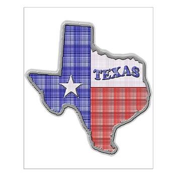 Plaid Texas Small Poster