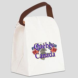 Québec Canvas Lunch Bag