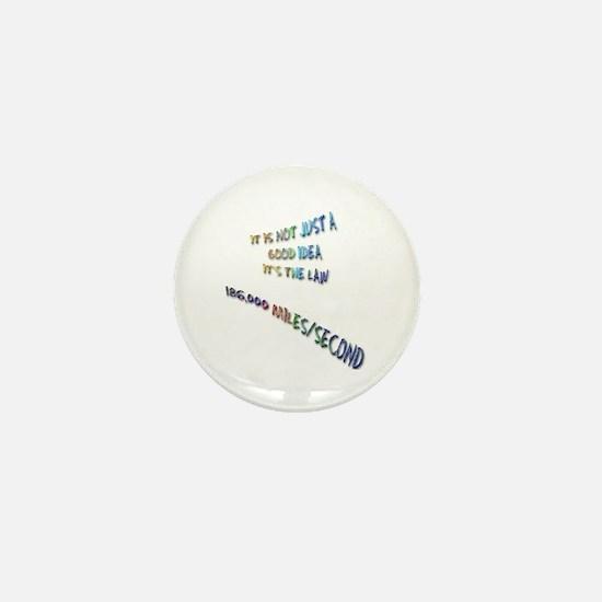 I love physics: lightspeed Mini Button