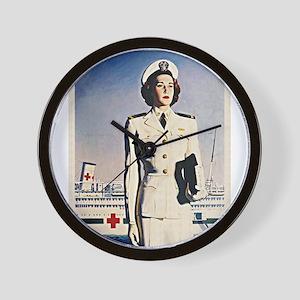 Navy Nurse Wall Clock