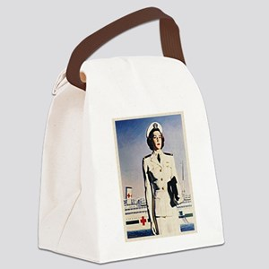 Navy Nurse Canvas Lunch Bag