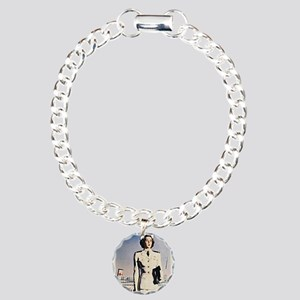 Navy Nurse Charm Bracelet, One Charm