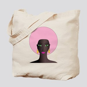 Woman with Pink Afro Tote Bag