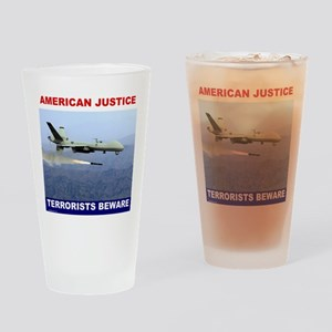 American Justice Drinking Glass