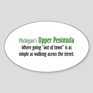 Going Out Of Town Oval Sticker