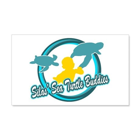 Silas Sea Turtle Buddies 20x12 Wall Decal