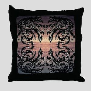 DinoMech / Victorian Vintage Throw Pillow