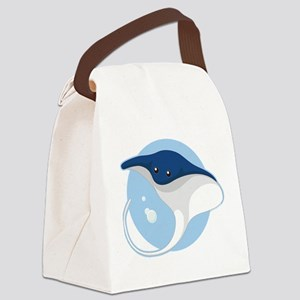 Manta Ray Canvas Lunch Bag