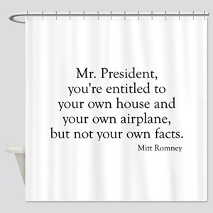 Romney-Obama Debat Quote Shower Curtain