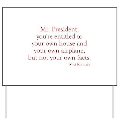 Romney-Obama Debat Quote Yard Sign