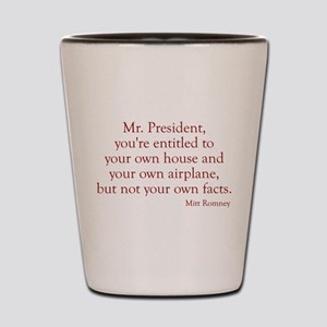 Romney-Obama Debat Quote Shot Glass