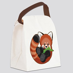 Red Panda Canvas Lunch Bag