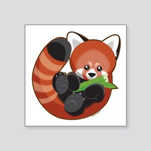 "Red Panda Square Sticker 3"" x 3"""