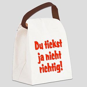 Du tickst ja nicht richtig Canvas Lunch Bag