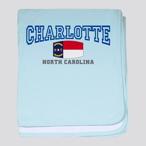 Charlotte, North Carolina NC USA baby blanket