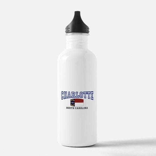 Charlotte, North Carolina NC USA Water Bottle
