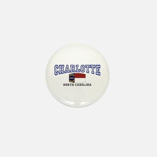 Charlotte, North Carolina NC USA Mini Button