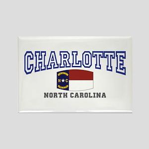 Charlotte, North Carolina NC USA Rectangle Magnet