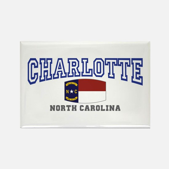 Charlotte, North Carolina NC USA Rectangle Magnet
