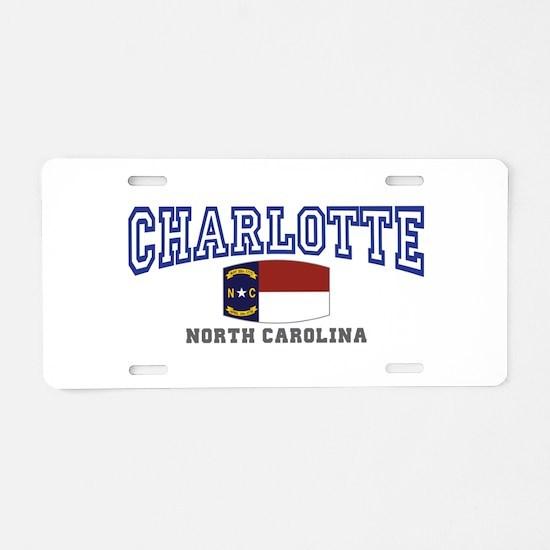 Charlotte, North Carolina NC USA Aluminum License