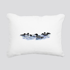 Lots of Loons! Rectangular Canvas Pillow