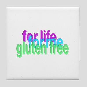 For life for me gluten free Tile Coaster