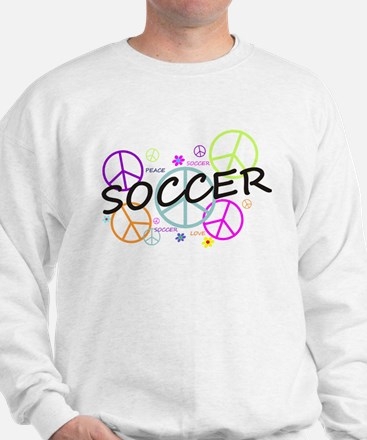 Colored Peace Signs Soccer Sweatshirt