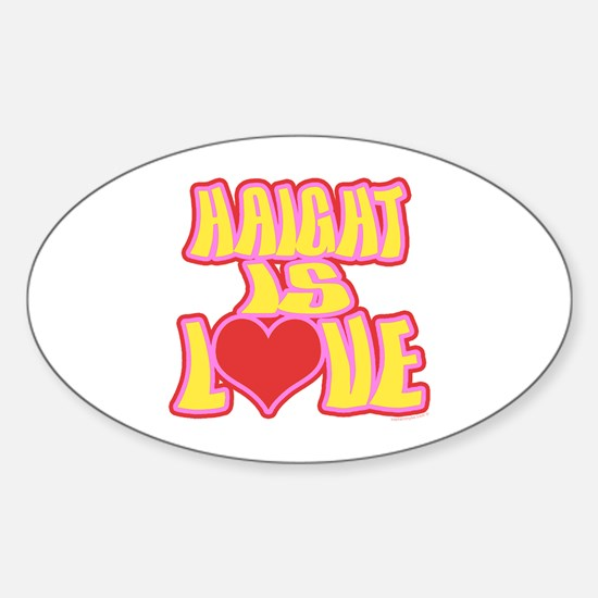 Haight Love Sticker (Oval)