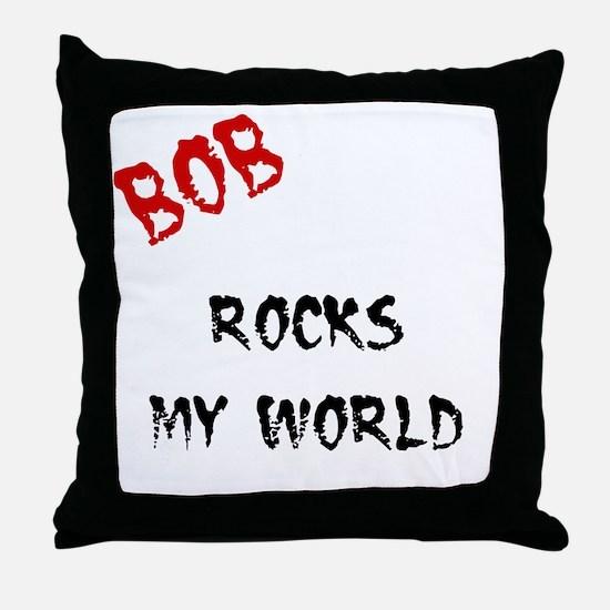 Bob Rocks Throw Pillow