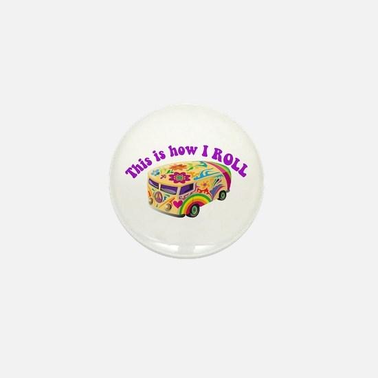 How I Roll (Hippie Van) Mini Button