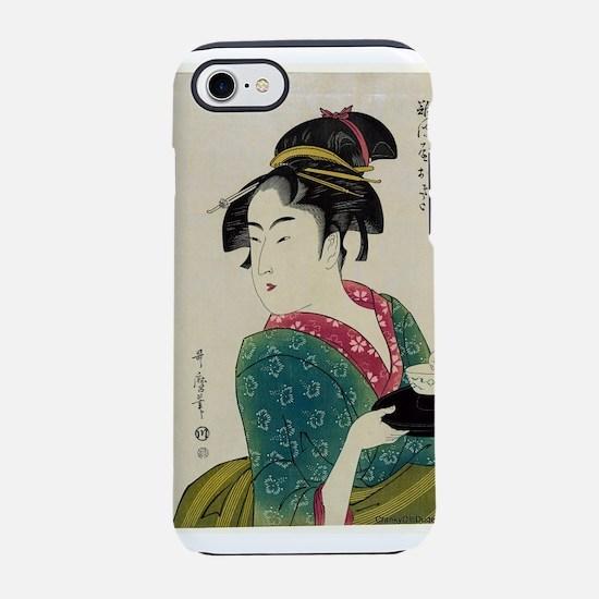 Okita Of Naniwa-ya - Utamaro Kitagawa - 1793 iPhon