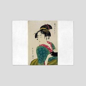Okita Of Naniwa-ya - Utamaro Kitagawa - 1793 5'x7'