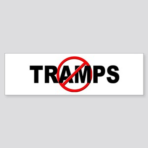Anti / No Tramps Sticker (Bumper)