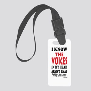 Voices In My Head Small Luggage Tag w/ID