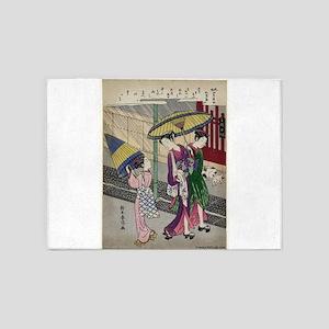 Rain In May - Harunobu Suzuki - 1770 5'x7'Area Rug