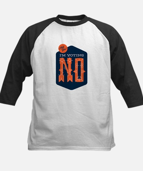 Hell Yes! I'm Voting NO Kids Baseball Jersey