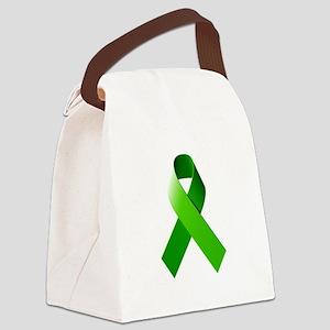 Green Ribbon Canvas Lunch Bag