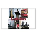 London Views Sticker (Rectangle 50 pk)
