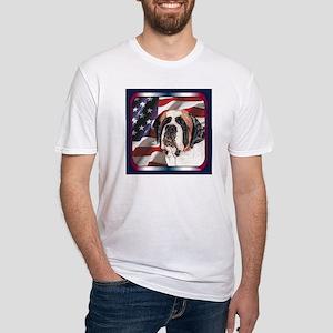 Saint Bernard US Flag Fitted T-Shirt