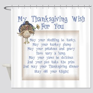 Thanksgiving Wish 2556x2592 Shower Curtain
