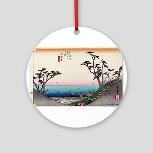Shirasuka - Hiroshige Ando - 1833 Round Orname