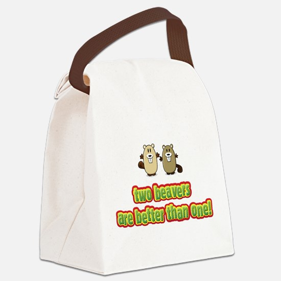 2 Beavers Canvas Lunch Bag