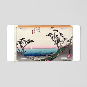 Shirasuka - Hiroshige Ando - 1833 Aluminum Lic