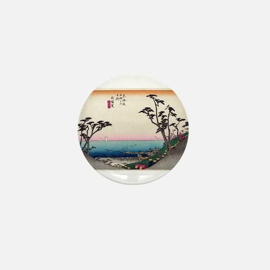 Shirasuka - Hiroshige Ando - 1833.tif Mini Button