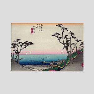 Shirasuka - Hiroshige Ando - 1833 Magnets