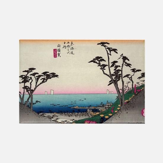 Shirasuka - Hiroshige Ando - 1833.tif Magnets