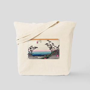 Shirasuka - Hiroshige Ando - 1833 Tote Bag